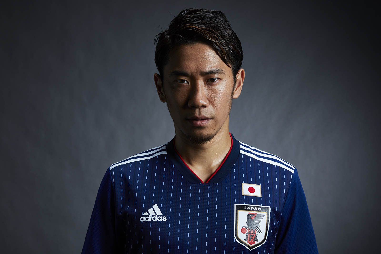 The Adidas Japan 2018 World Cup Home Kit Introduces A Clean Look With A Stripe Pattern On The Front Classic Football Shirts World Cup Kits Football Shirts