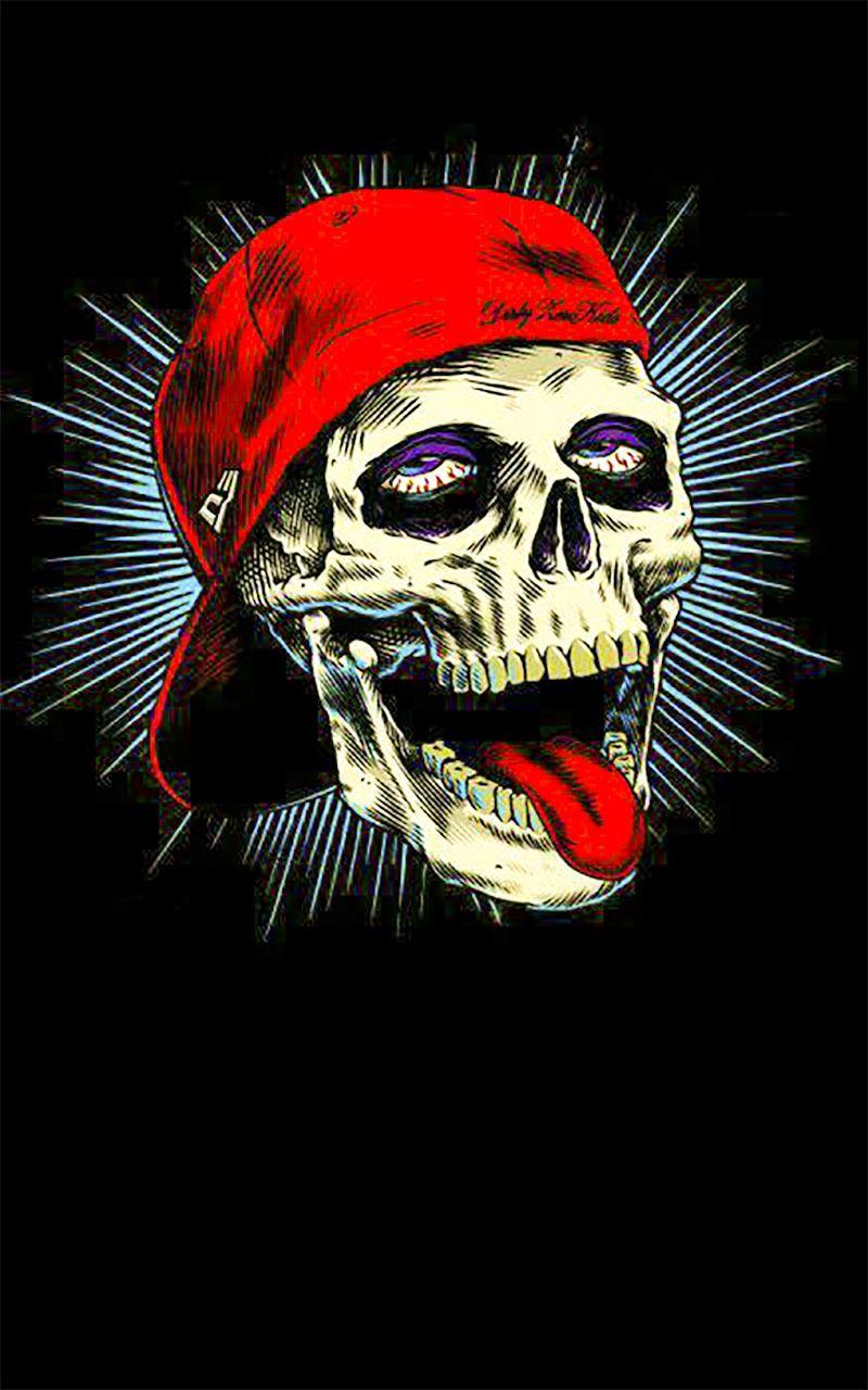Skull skull wallpaper for android Fond d'écran pop art