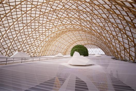 En perspectiva: Frei Otto,Expo 2000, Pabellón de Japón. . ImageImágen © Atelier Frei Otto Warmbronn
