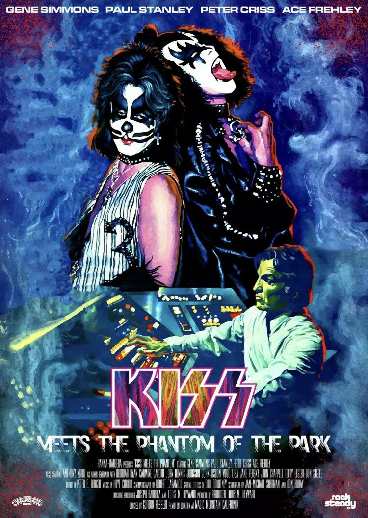 Kiss Band Kiss Meets The Phantom Poster In 2020 Kiss Band Band Posters Concert Posters