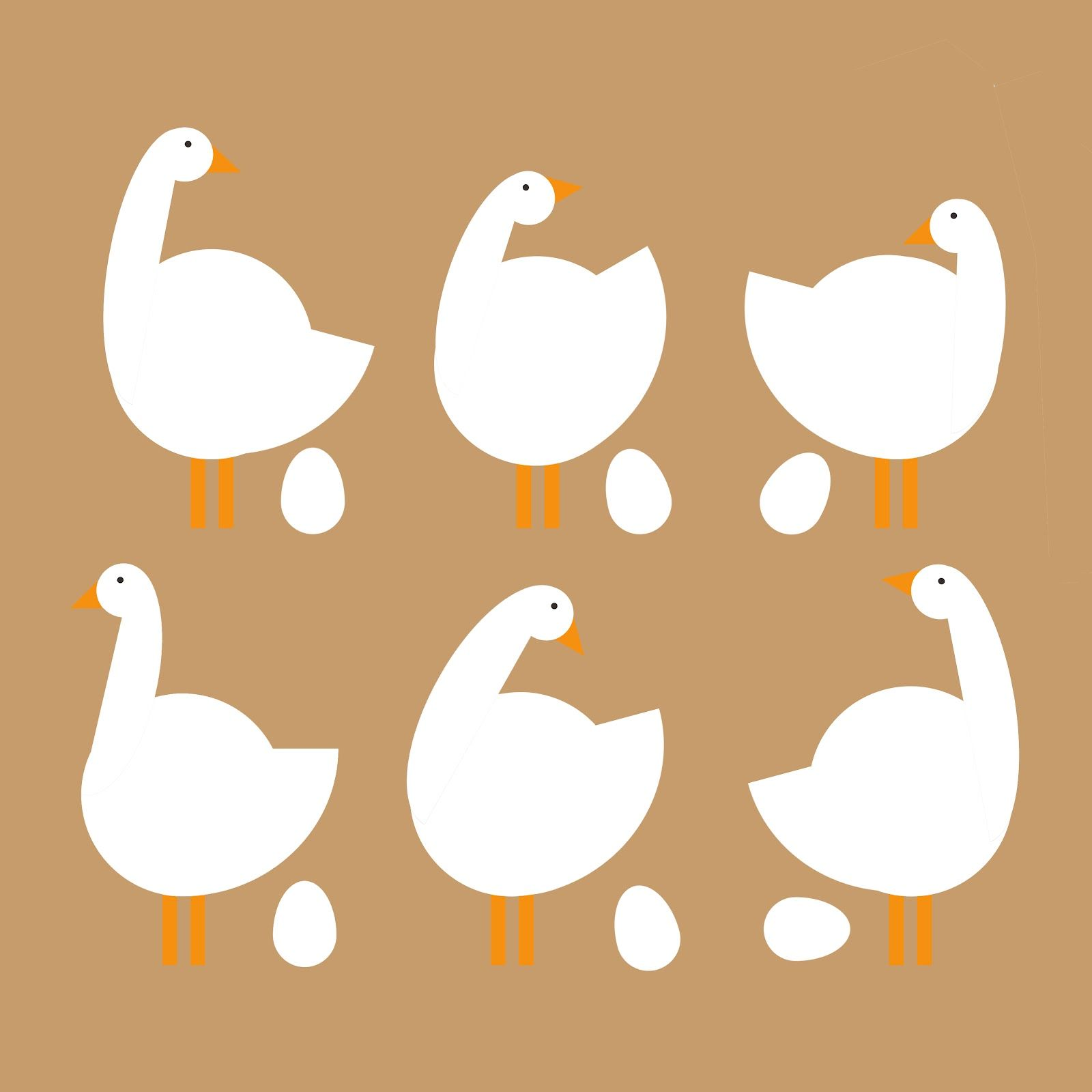 6 Geese A Laying