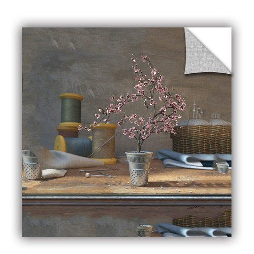 """Art Wall Sew Tiny by Cynthia Decker Art Appeelz Removable Wall Art Graphic Size: 14"""" H x 14"""" W"""