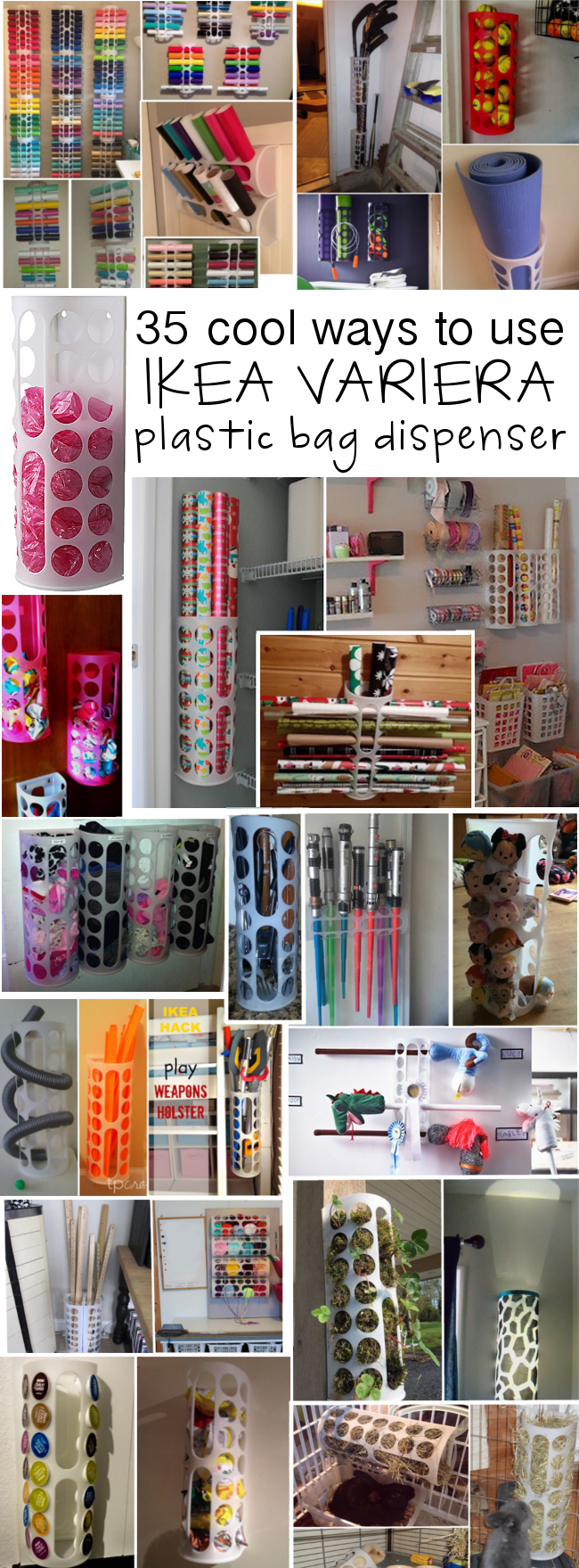 35 uses for IKEAu0027s VARIERA plastic bag dispenser & 35 uses for IKEAu0027s VARIERA plastic bag dispenser | Pinterest ...