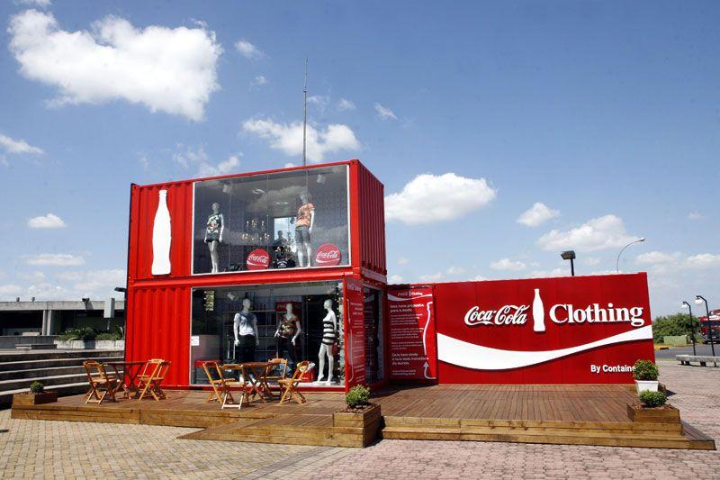 Porto alegre loja container coca cola arquitetura for Maison container 81