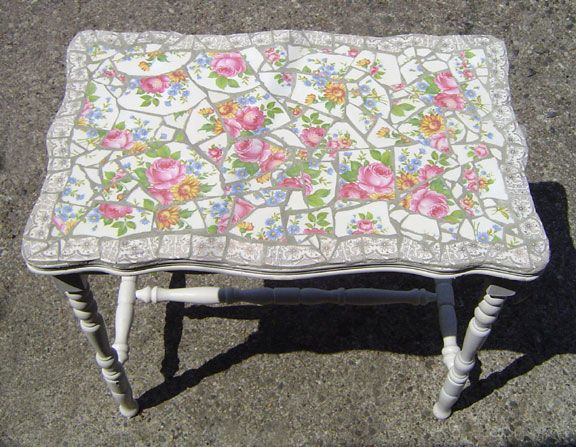 Mosaic Crafts Table, How To Make A Mosaic Table Top With Broken China