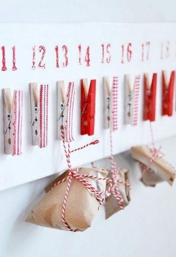 24 idées pour un calendrier de l'avent fait maison #calendrierdelaventfaitmaisonfacile