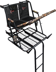 X Stand Treestand Co Llc The Jayhawk 20 Two Man Ladder Stand Ea Ladder Stands Ladder Tree Stands Best Ladder