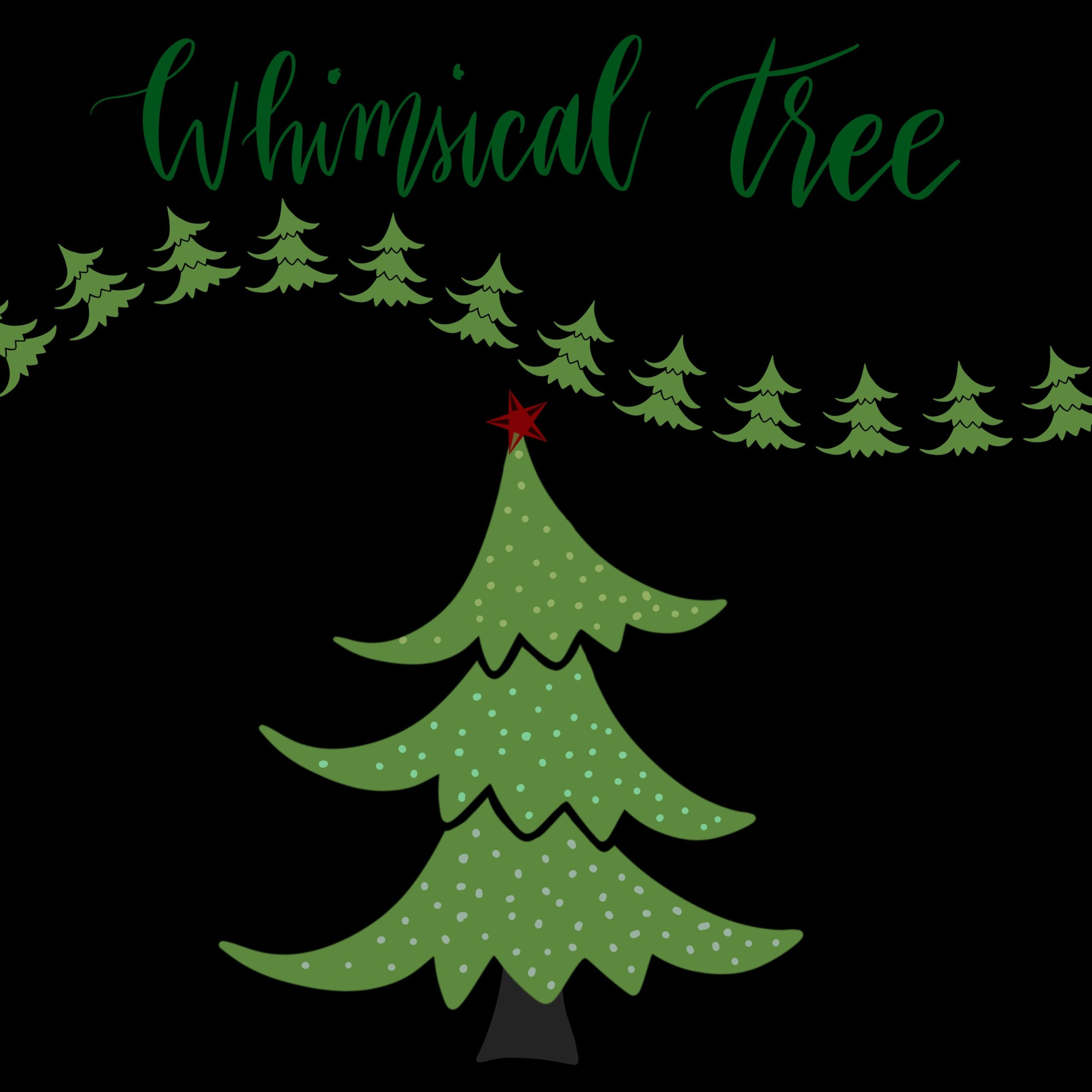 Whimsical Tree Brush For Procreate Whimsical Graphic Design