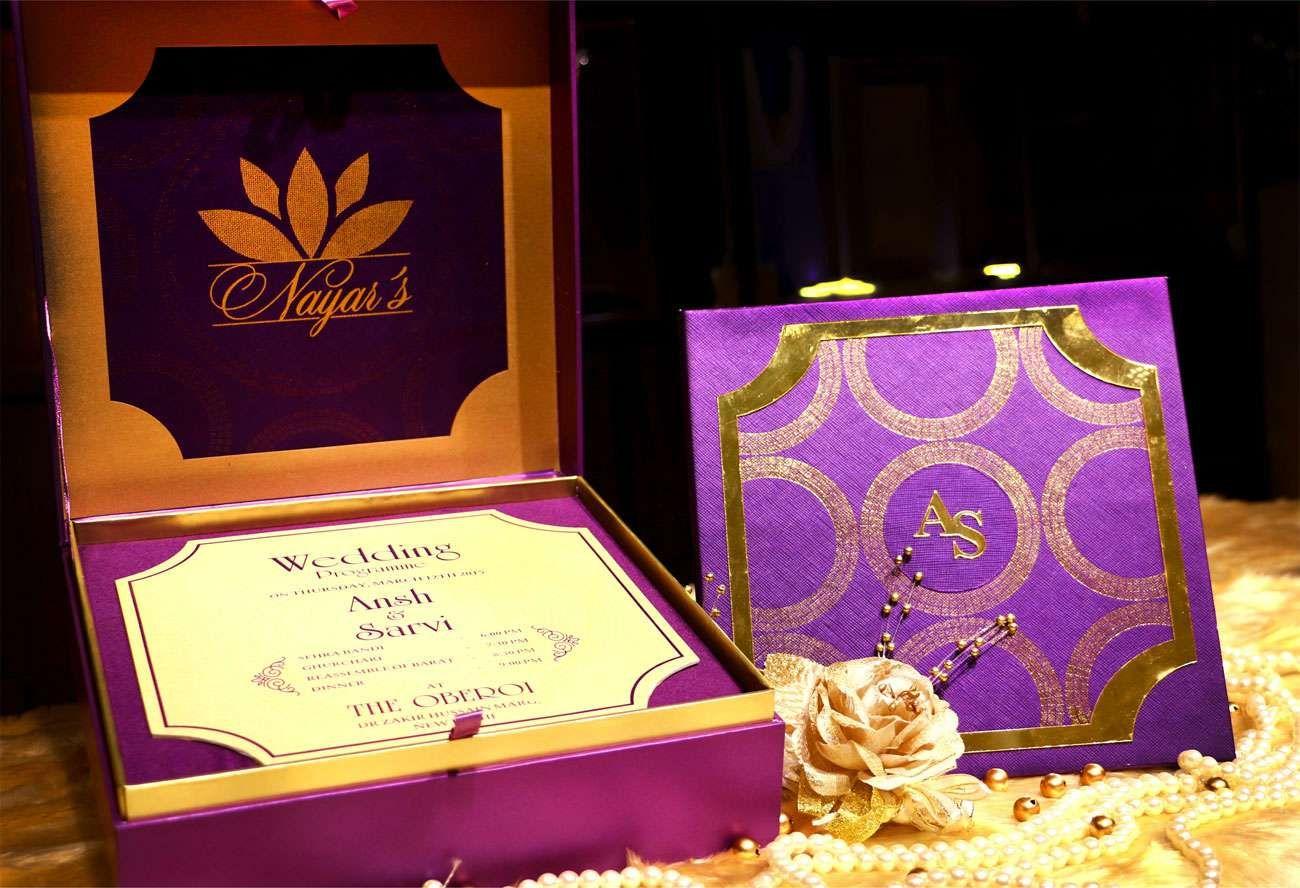 Divine Purple Invitationcard Newdelhi Weddinginvitation Weddingbox Weddingcardbox Indian Indianwedding