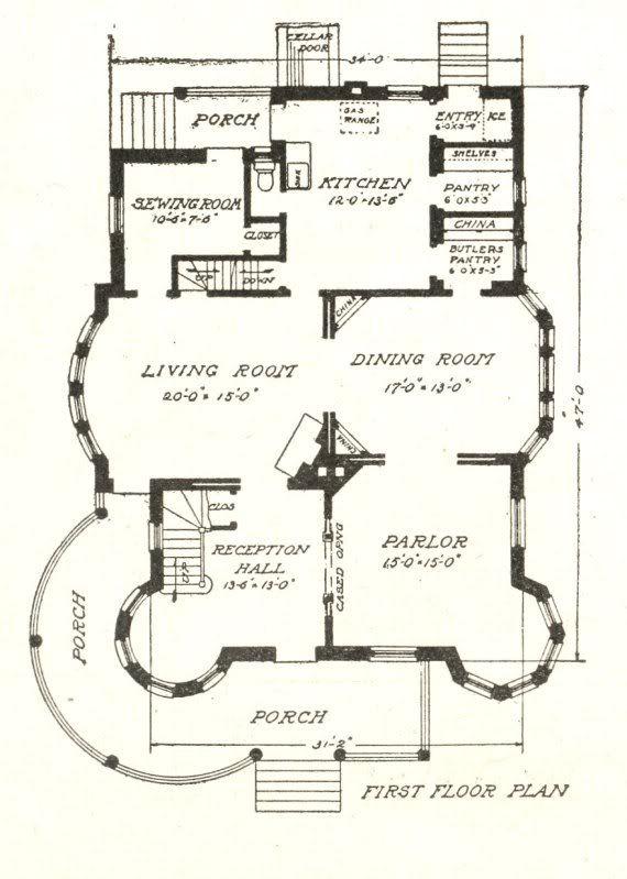 Sears Modern Home 303 enlarged. First floor