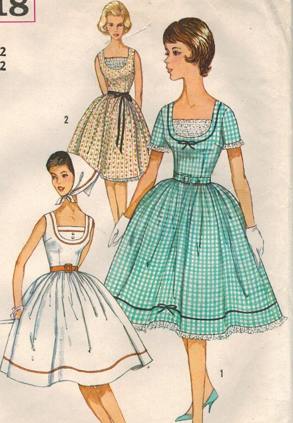 1960s Simplicity 3918 Vintage Sewing Pattern by midvalecottage ...