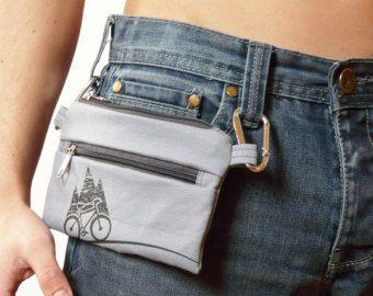 graphite gray bike belt bag waist bag Vegan PRINT by SKmodell