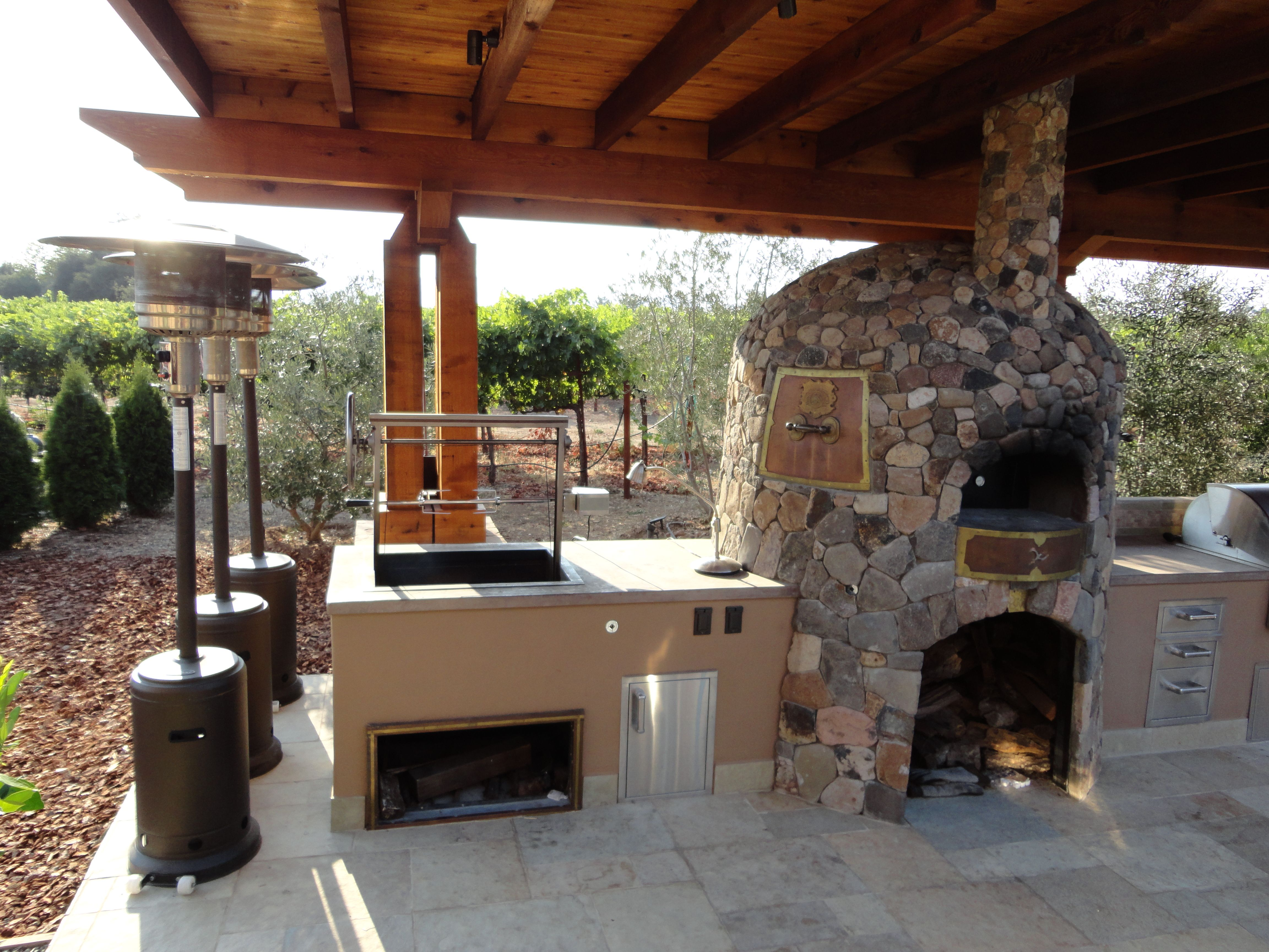 outdoor kitchen designs with pizza oven Image Kitchen