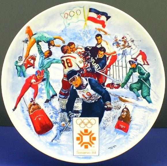 1984 Winter Olympics plate - Sarajevo ~ Yugoslavia