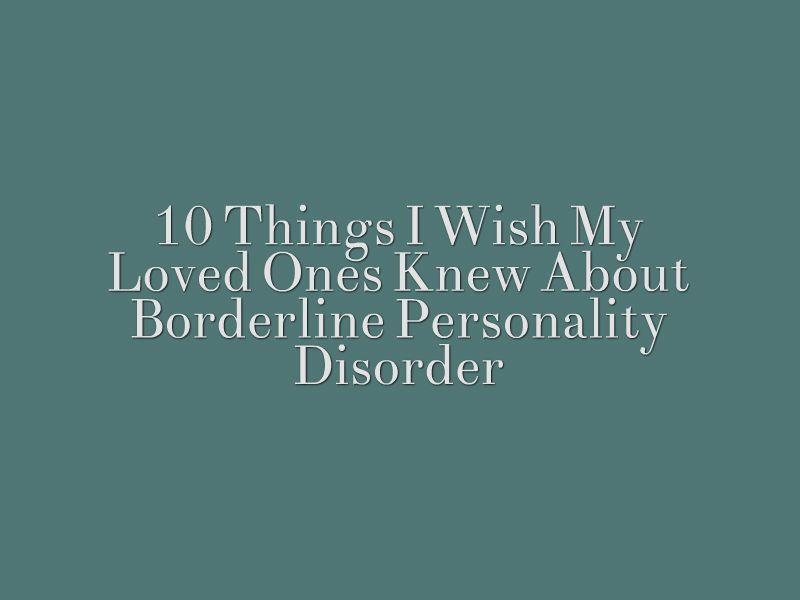 borderline personality disorder dating site