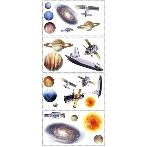 Roommates Space Travel Wall Decals RMK1003SCS CLEARANCE