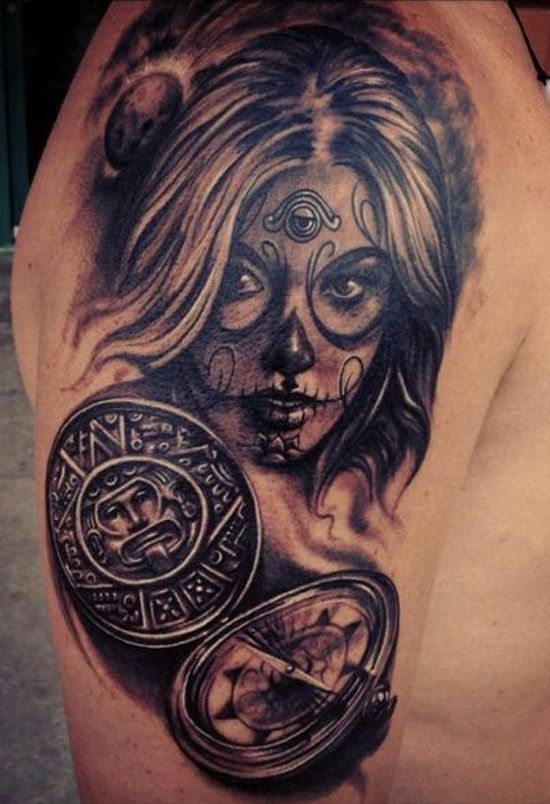 51 Ultimate Sugar Skull Tattoos Amazing Tattoo Ideas Sugar Skull Tattoos Feminine Skull Tattoos Skull Girl Tattoo