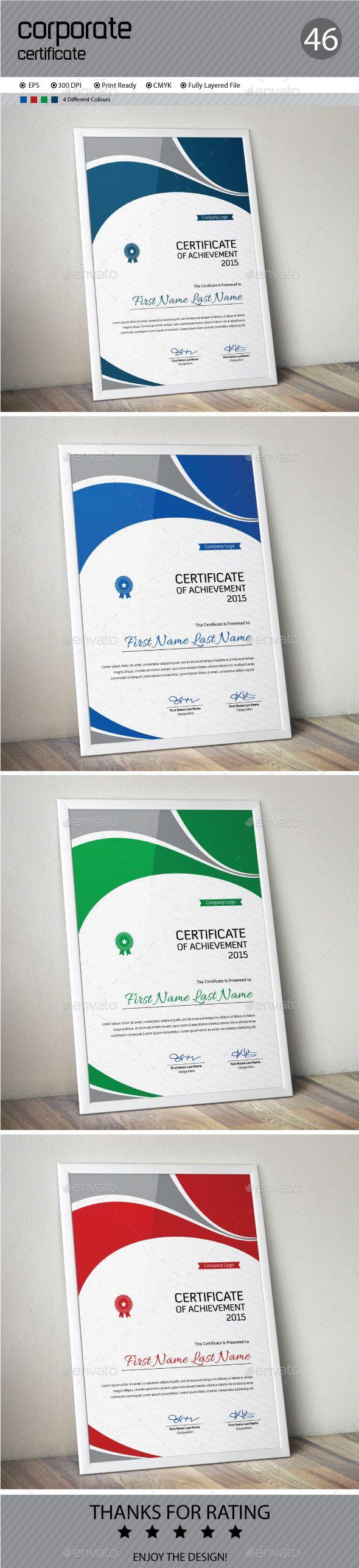 Certificate | Urkunde und Vorlagen