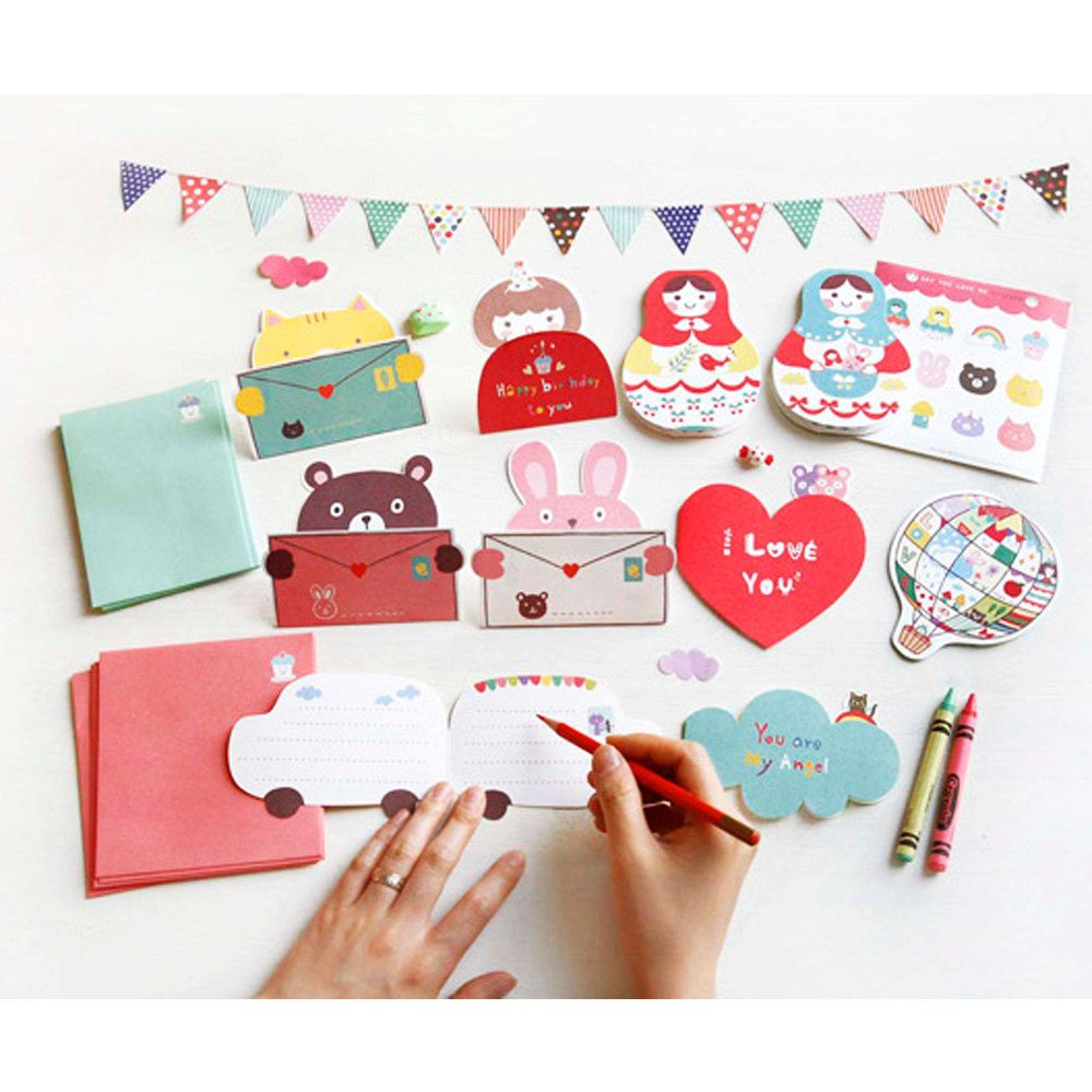 100% Quality Creative Expression Scratch Postcards Diy Birthday Christmas Cards Messages Small Card Paper With 6 Scratch Cards 4 Postcard Paper