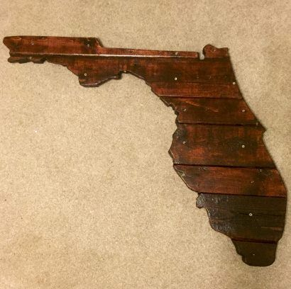 Florida State Outline With Pallets