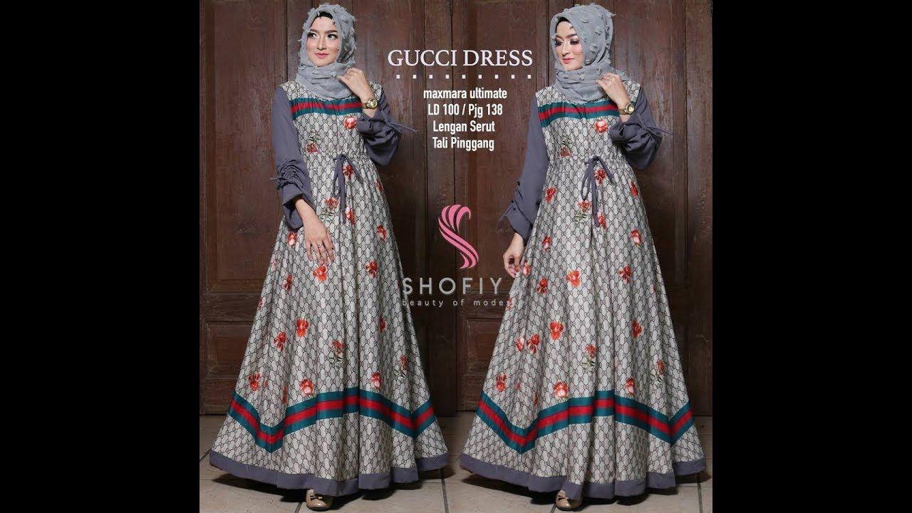 9 Model Gamis Modern Terbaru #model #gamis #bajukurung #hijab