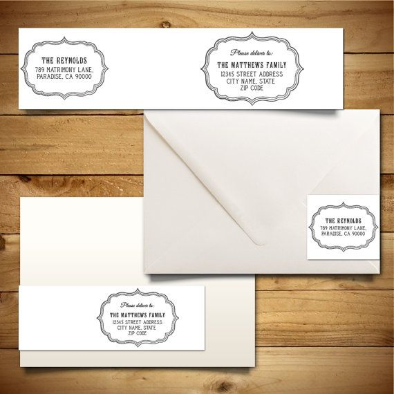 Printable WrapAround Address Label Template For A Envelopes