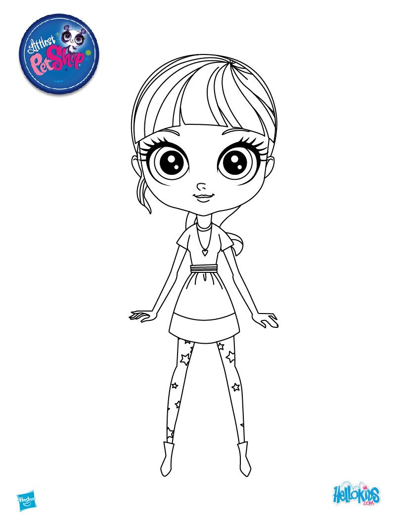 lps printables BLYTHE from Littlest Pet Shop coloring