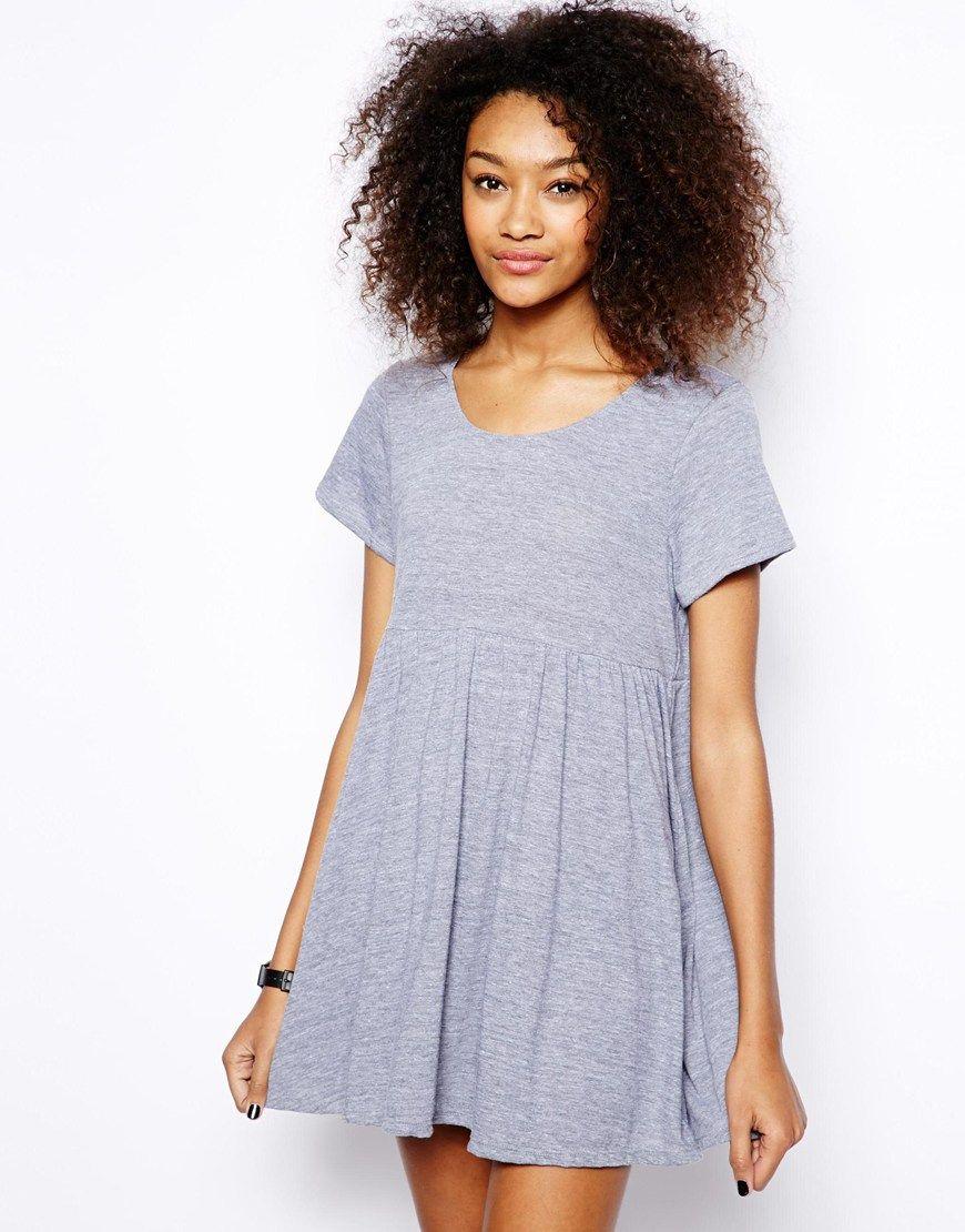 622a824542 American Apparel Babydoll Dress in Marl