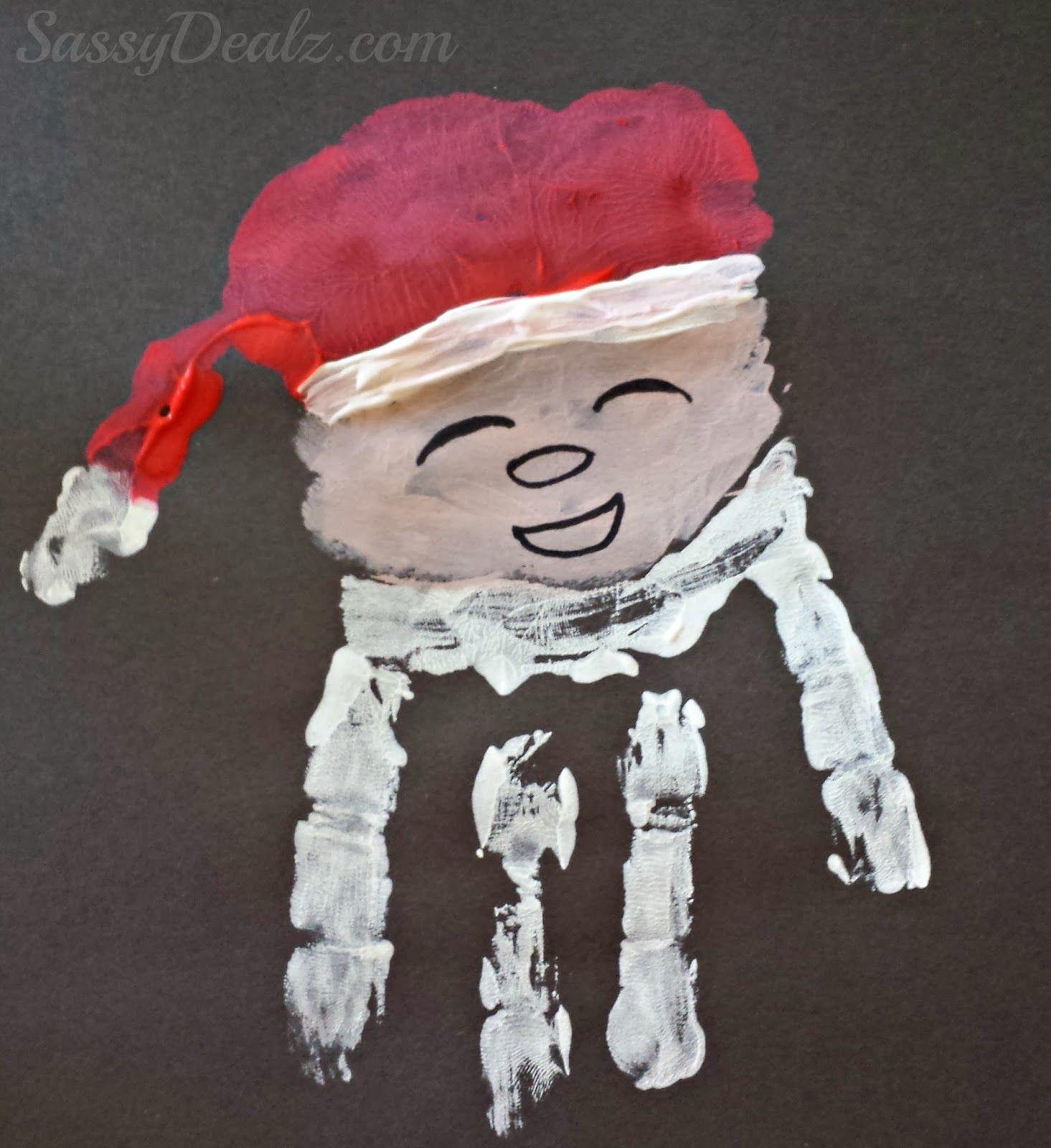 Handprint Santa Claus Craft For Kids At Christmas