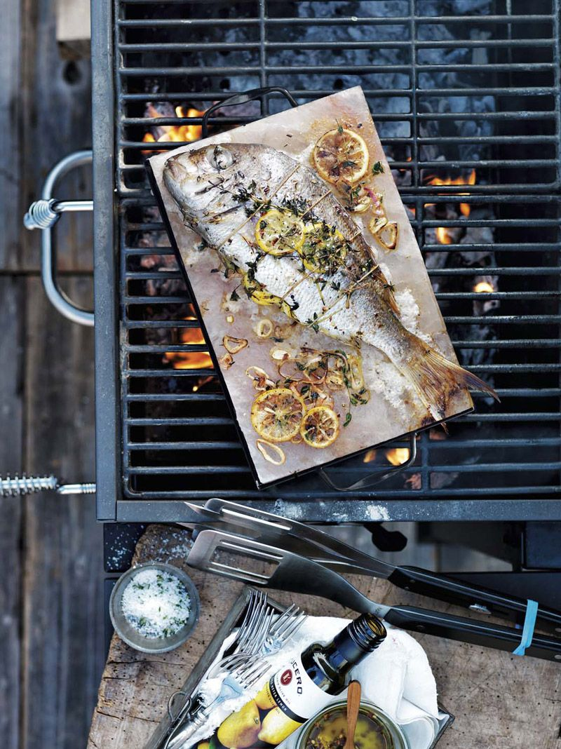 how to cook bass on the grill