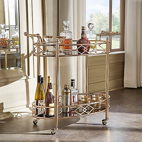 Rose Gold Bar Cart From Bed Bath And Beyond Redecorate Pinterest