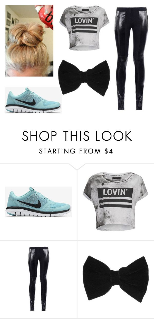 """At school"" by dancer-girl589 ❤ liked on Polyvore featuring NIKE, Religion Clothing and claire's"