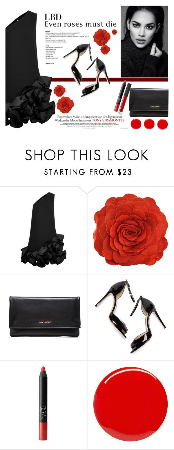 """Littie Black Dress"" by darina-kozlova ❤ liked on Polyvore featuring Victoria, Victoria Beckham, Yves Saint Laurent, M. Gemi, NARS Cosmetics and LBD"