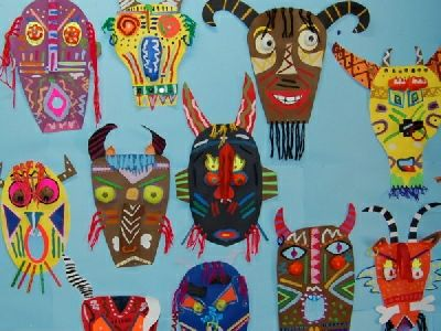 African Mask Elementary Google Search African Art Projects