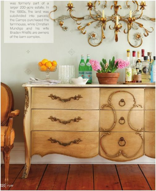 Use Old Dresser In Dining Room To Store Plates Serving Dishes Used Only Occasionally