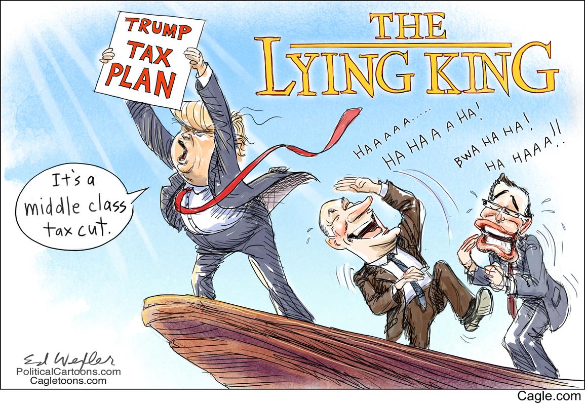 Image result for trump lies political cartoon