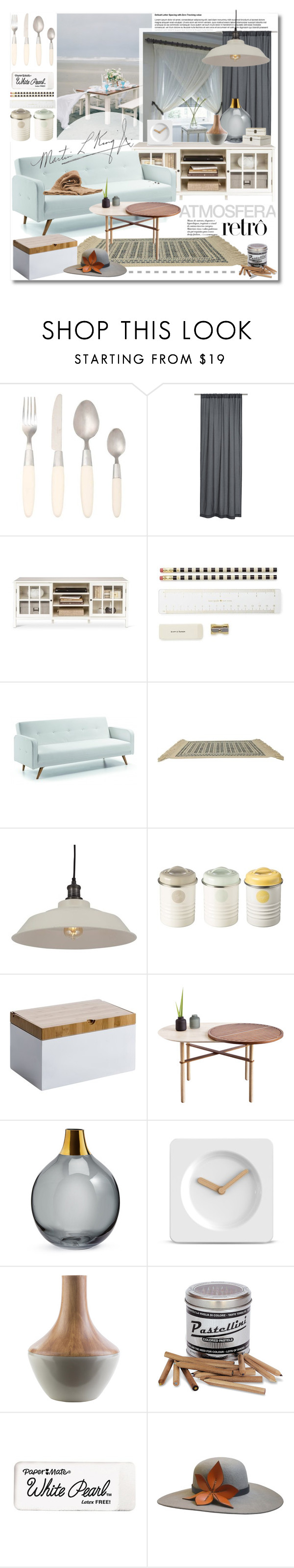 """""""End of summer"""" by undici ❤ liked on Polyvore featuring interior, interiors, interior design, home, home decor, interior decorating, Viners, H&M, Threshold and Kate Spade"""