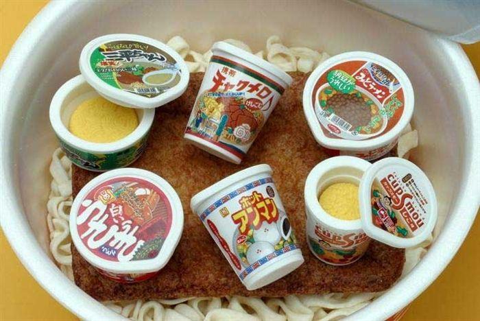 Japanese Erasers - Ramen Noodle Eraser Collection