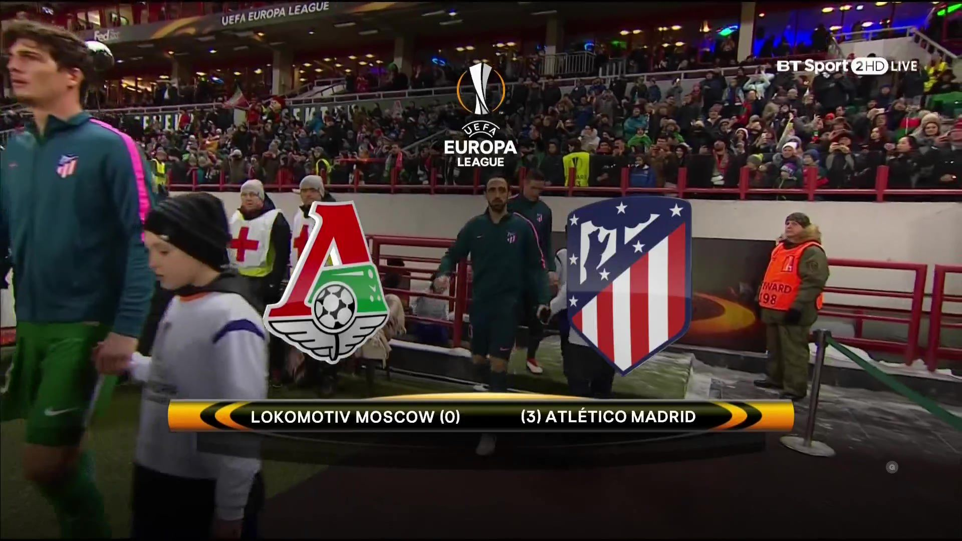 Pin on goals UEL 17/18 R16 2nd leg Lokomotiv Moscow vs