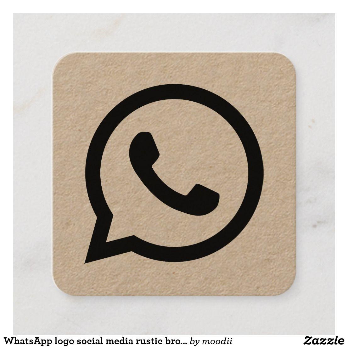 Whatsapp Logo Social Media Rustic Brown Kraft Calling Card Zazzle Com In 2020 Iphone Wallpaper Vintage Aesthetic Iphone Wallpaper Flower Phone Wallpaper