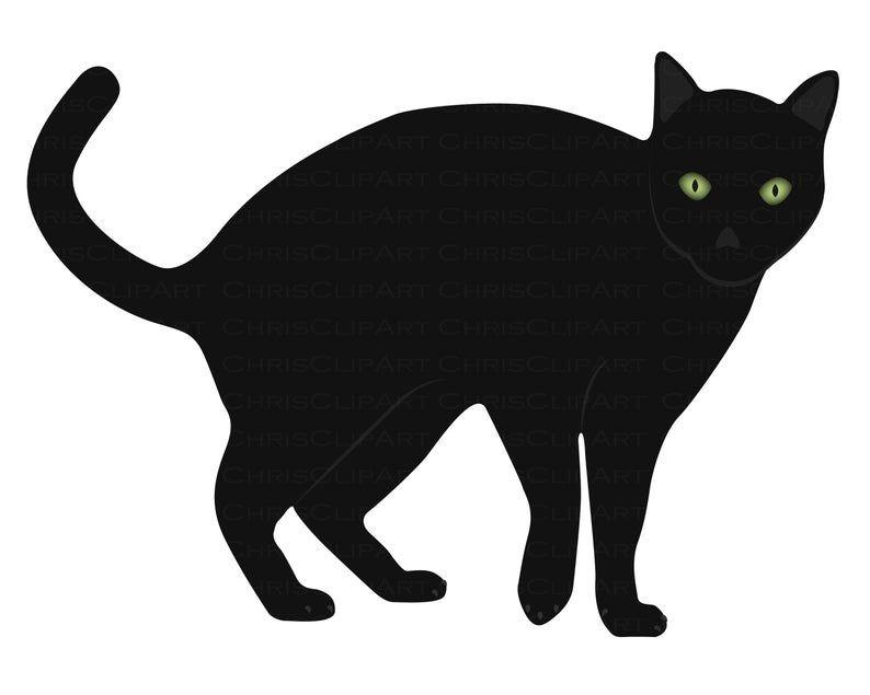 Black Cat Svg Clipart Black Cat Cat Png Cat Clipart Cat Svg Black Cat Graphic Cricut Black Cat Cat Clipart Clip Art Halloween Illustration