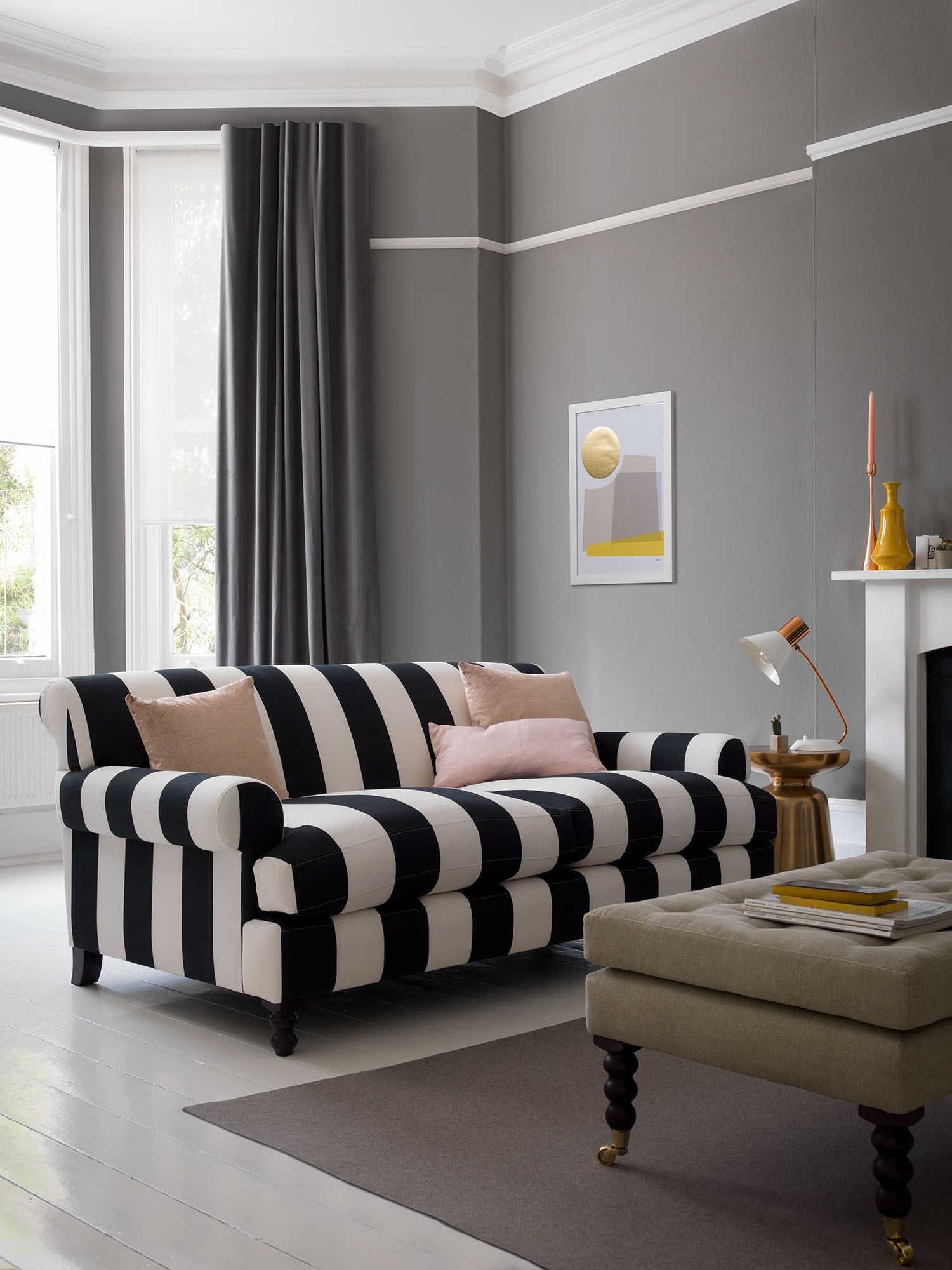 Cartwright Armchair In 2019 Striped Sofa Living Room