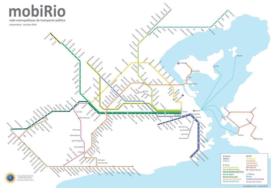 Map of Rio de Janeiro ferry network