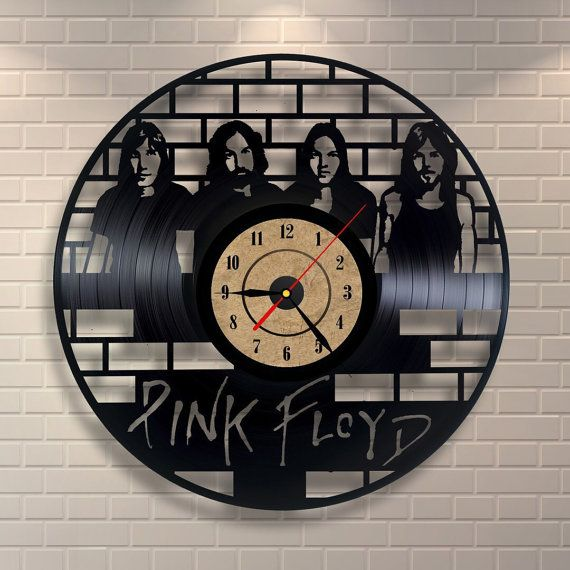Pink Floyd art vinyl wall record clock by Vinylastico on