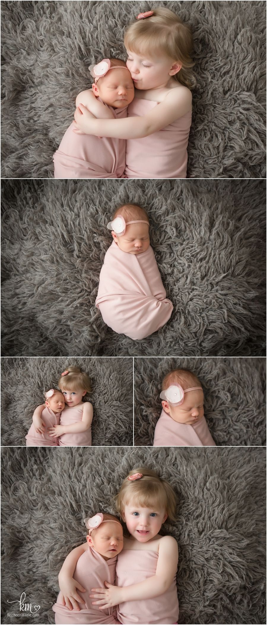 Poses for newborn girl and sister siblings newborn photography poses