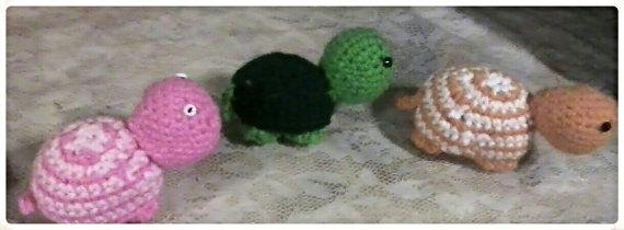 Crocheted Turtle, Minature Crochet Turtle, Custom Animal, Turtle Toy, Small Stuffed Turtle, Stuffed Animal, Turtle, Custom Woodland Nursery #crochetturtles