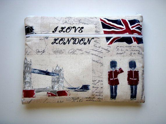15,6 inch Laptop Sleeve Pocket London Handmade Babimini by Babimini, €29.00