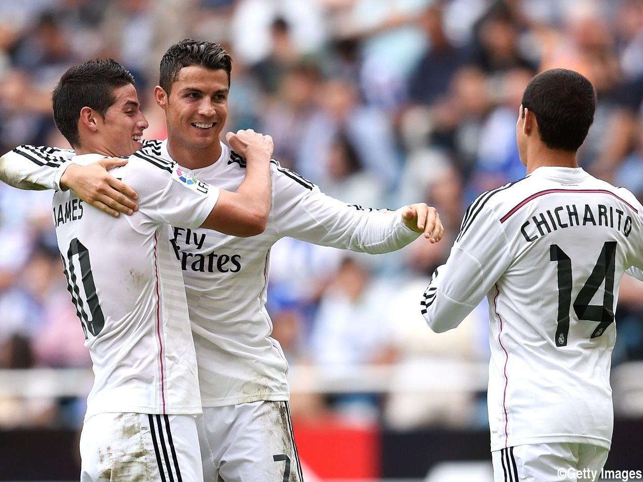 Real Madrid C.F. Cristiano Ronaldo, Chicharito, James