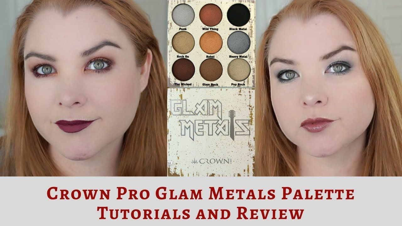 Crown Pro Glam Metals Eyeshadow Palette Review and