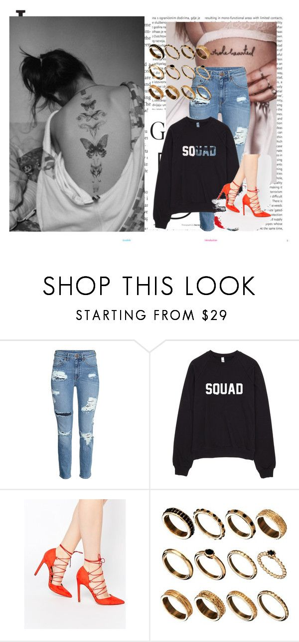 """Sem título #259"" by gabyfranco ❤ liked on Polyvore featuring Oris, H&M and ASOS"